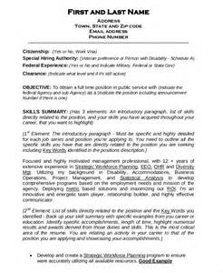 Federal Resume Template Word federal resume template 10 free word excel pdf format