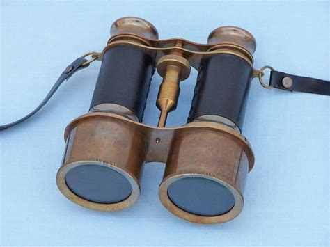 wholesale boutique copper brass collectable handwork get wholesale commanders antique brass binoculars with leather