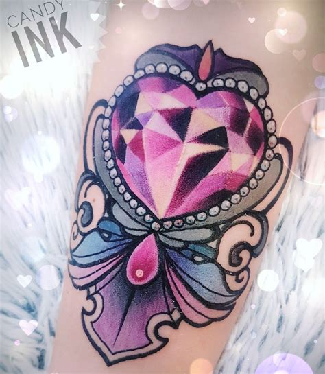diamond tattoo neo traditional jewel tattoo tattoo pinterest neo traditional heart
