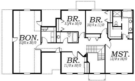 2800 square foot house plans colonial style house plan 4 beds 2 5 baths 2800 sq ft