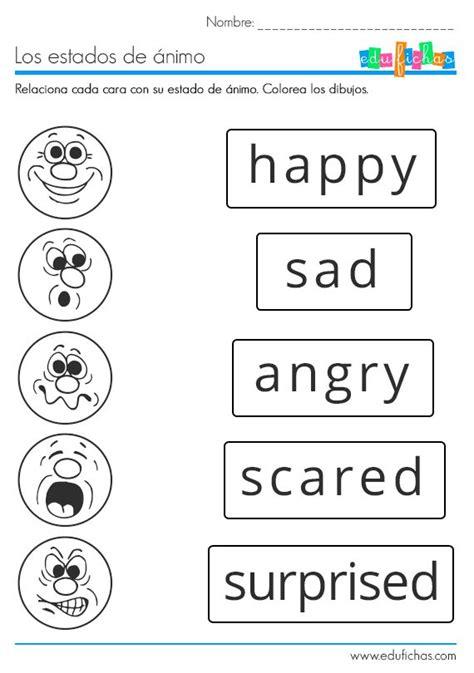 imagenes para aprender ingles basico m 225 s de 17 ideas fant 225 sticas sobre estados de animo en