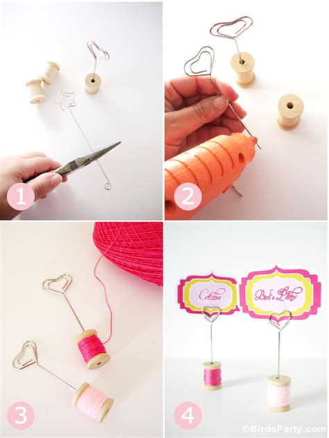 diy place card holders diy cotton reel place card holders party ideas party