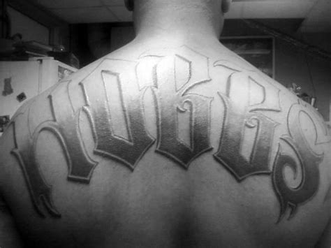 last name tattoo on back 50 last name tattoos for honorable ink ideas