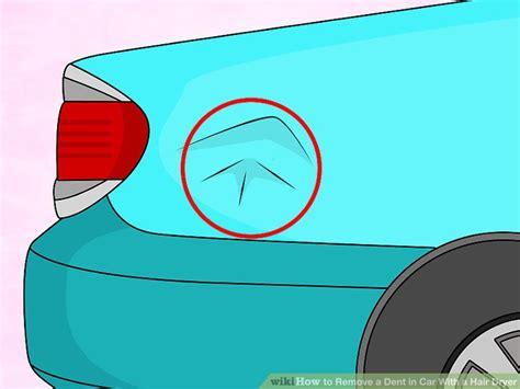Hair Dryer Dent Removal how to remove a dent in car with a hair dryer 9 steps
