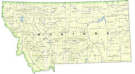 montana in usa map map of montana outravelling maps guide