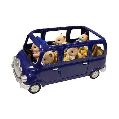 Sylvanian Families Auto by Fly Buys Sylvanian Families Blue Bell Seven Seater Car