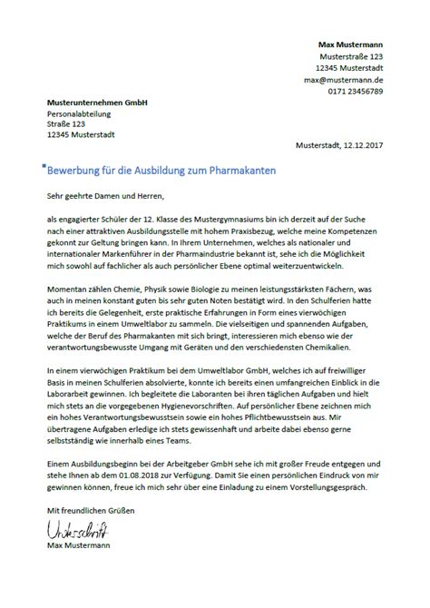 Bewerbungsschreiben Ausbildung Drogistin bewerbung als pharmakant pharmakantin bewerbung net