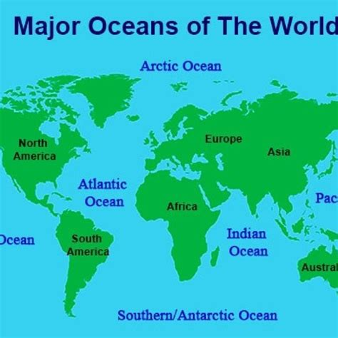 the blue planet how many oceans are there in the world