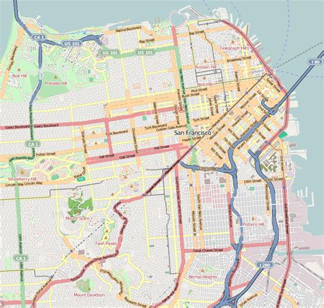 san francisco map picture lower haight san francisco