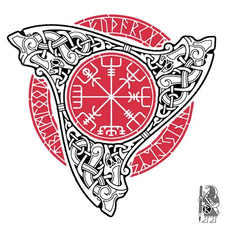 vegvisir by raidho dmt on deviantart
