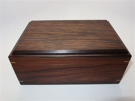 Handcrafted Wooden Box - keepsake box bolivian rosewood and