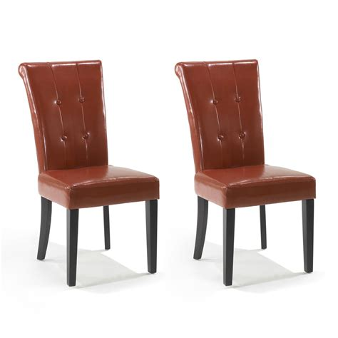 Burnt Orange Leather Dining Chairs Burnt Orange Dining Chairs Leighton Fabric Dining Chairs Set Of 2 Burnt Orange Assembly