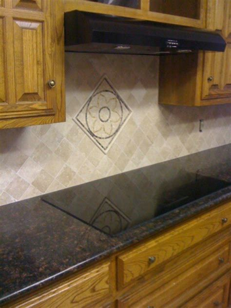 diagonal tile backsplash beige travertine diagonal backsplash