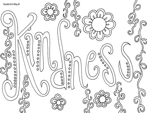 quotes with flower borders coloring pages for girls not