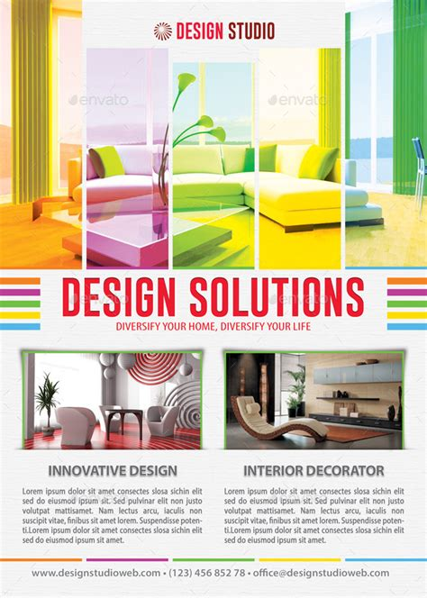 best flyer design graphicriver interior design solution flyer template 102 by 21min