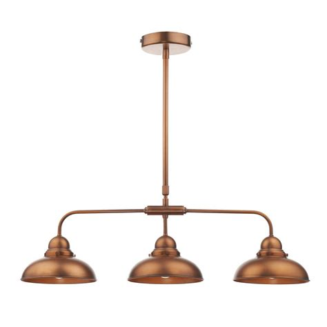 Lighting Uk Dyn0364 Dynamo 3 Light Bar Pendant Antique Copper