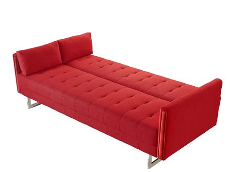 red fabric sofa bed divani casa tejon modern red fabric sofa bed