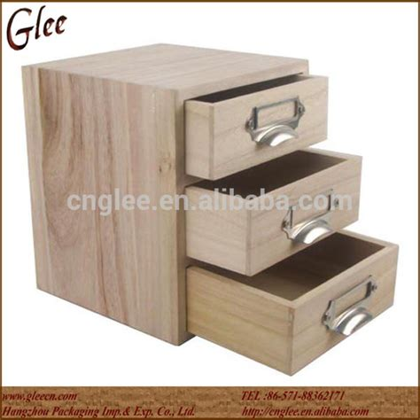 Small Storage Boxes With Drawers by Small Solid Wood Storage Box Wooden Drawer Box 3 Drawers