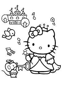 Kertas Mewarna untuk Kanak-kanak Hello Kitty