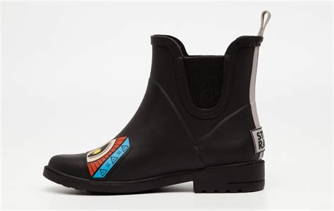 Black Master Boot Type 004 Salem fashion rubber boot for boots