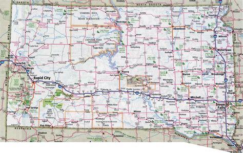 road map dakota usa large detailed roads and highways map of south dakota