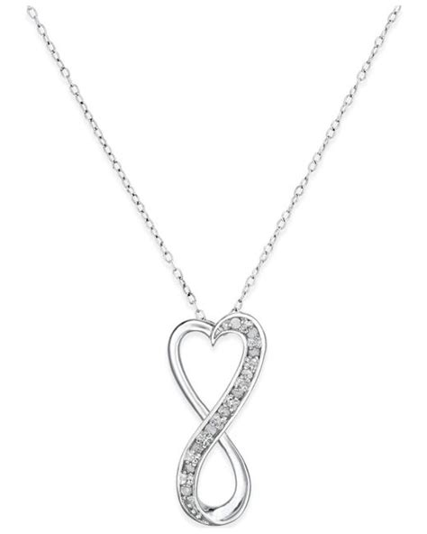 macy s infinity ring macy s infinity pendant necklace in sterling