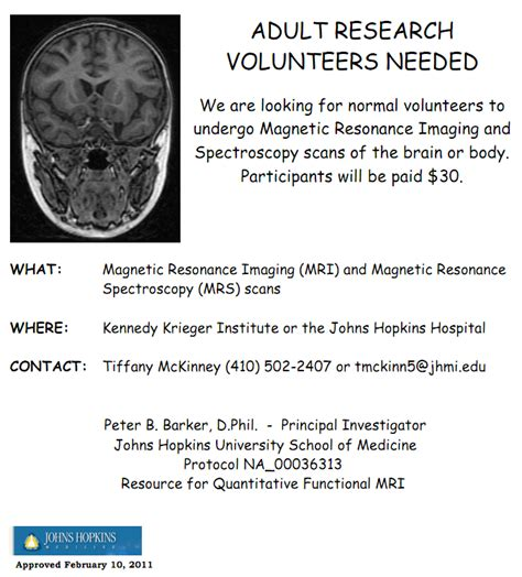 mri normal volunteers hopkins imaging initiative