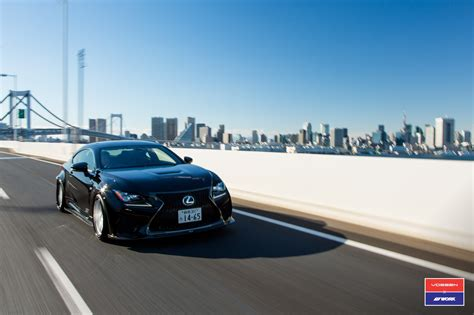 lexus japan lexus rc f by skipper japan has vossen wheels autoevolution