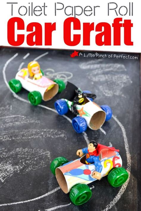 Toilet Paper Roll Car Craft - my crafts they can play with like our