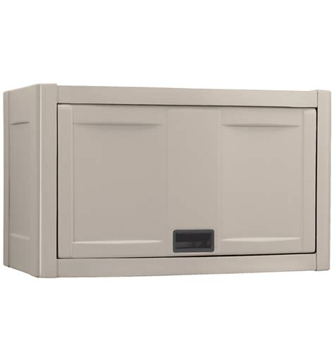 wall mounted garage cabinets wall mount utility garage cabinet taupe in storage cabinets