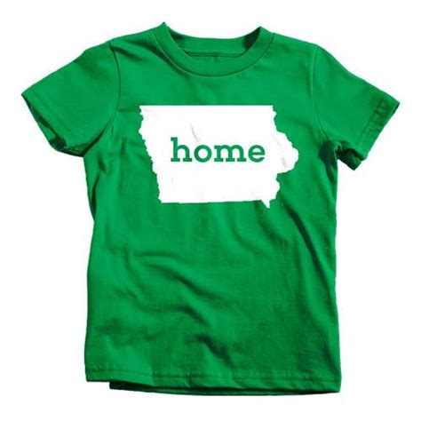iowa home t shirt custom made textual tees