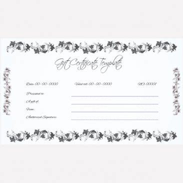 Wedding Gift Voucher Template by Gift Certificate Templates