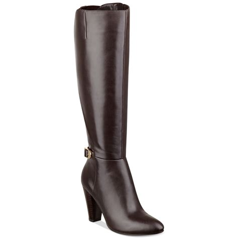 marc fisher shayna dress boots in brown lyst