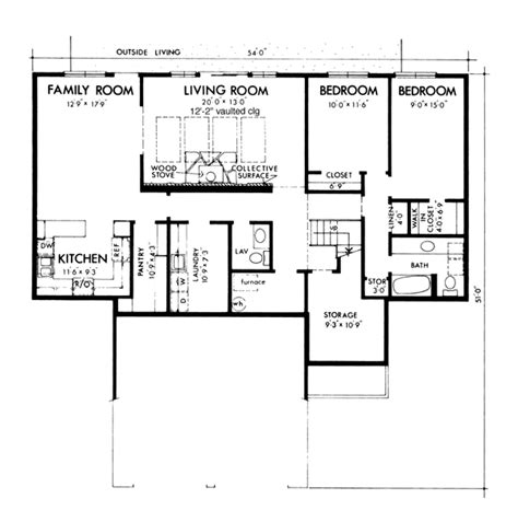 genesta contemporary berm home plan 072d 1088 house house plan 57444 at familyhomeplans com