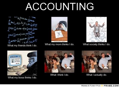 Accounting Memes - accounting what people think i do what i really do