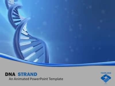 Dna Strand A Powerpoint Template From Presentermedia Com Dna Powerpoint Templates