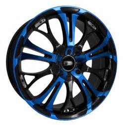 17 Inch Custom Truck Wheels Hd Wheels Spinout Blue Black 17 Inch Rims Blue Wheels Id