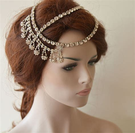 Wedding Hair With Headpiece by Wedding Hair Accessory Bridal Chain Wedding