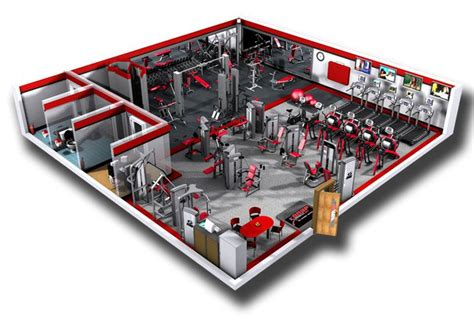 free gym layout design commercial fitness facility design installation showcase