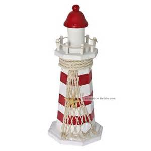 dekoration leuchtturm leuchtturm aus holz mit fischernetz u seestern wei 223 rot