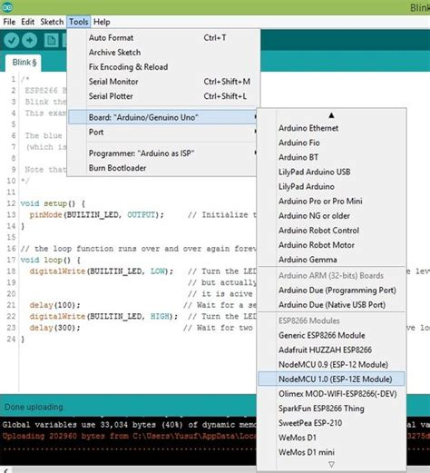 esp8266 tutorial arduino ide programmierung esp8266 esp 12e nodemcu verwendung von