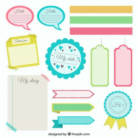 scrapbook layout software free colored scrapbooking elements vector free download