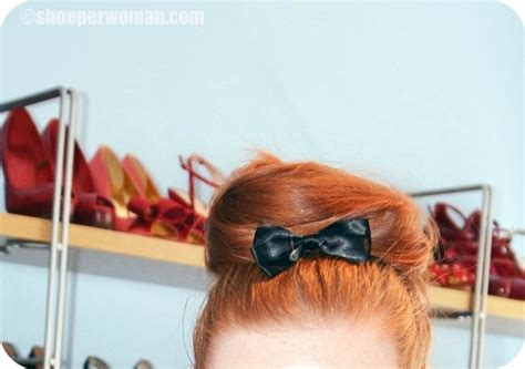 bow in her hair and rear view bow in hair gt