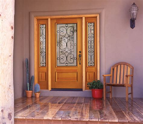 Glass Panel Exterior Doors Exterior Glass Panel Door Laredo With Sidelights Motiq Home Decorating Ideas