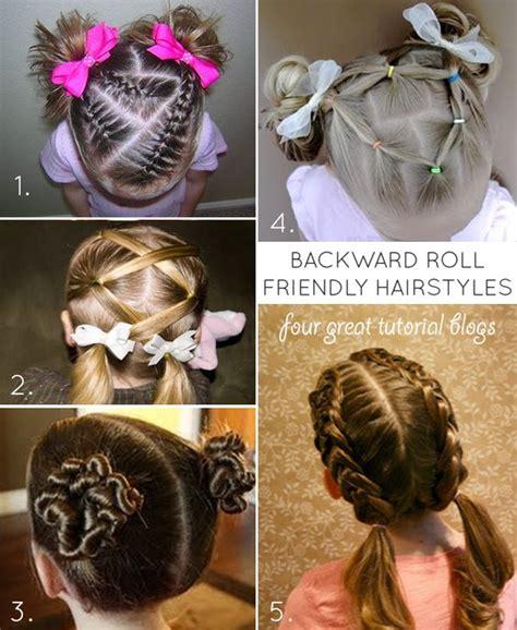 Gymnastics Hair Ideas Long Hair Backward Roll | compulsory gymnastics competition hair tips of the trade