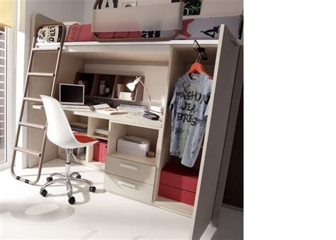 camas altas con escritorio abajo juvenil con cama alta escritorio debajo armario elmenut