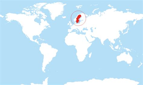 sweden on a world map where is sweden located on the world map