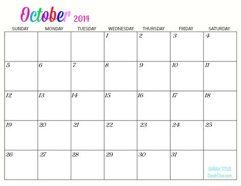 october 2014 calendar template gallery for gt blank monthly calendar october 2014