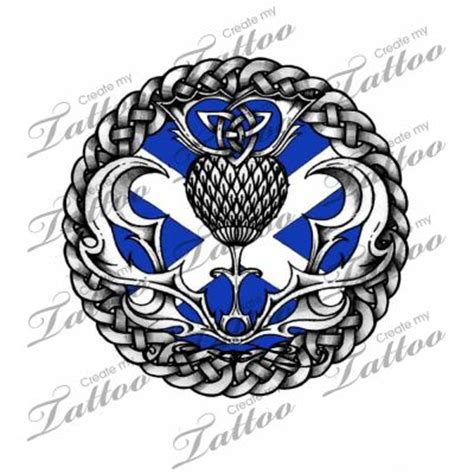 Celtic Scottish Thistle Tattoo Design Knot Work Tattoo Scottish Designs
