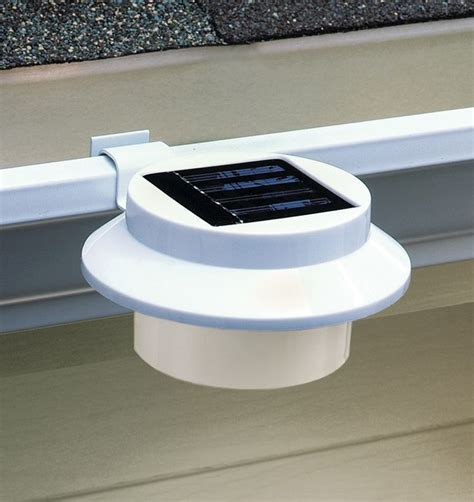 rain gutter solar lights solar rain gutter clip on